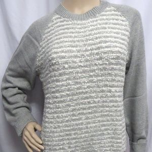 Chaps Boucle Pullover Crew Sweater Gray XL New